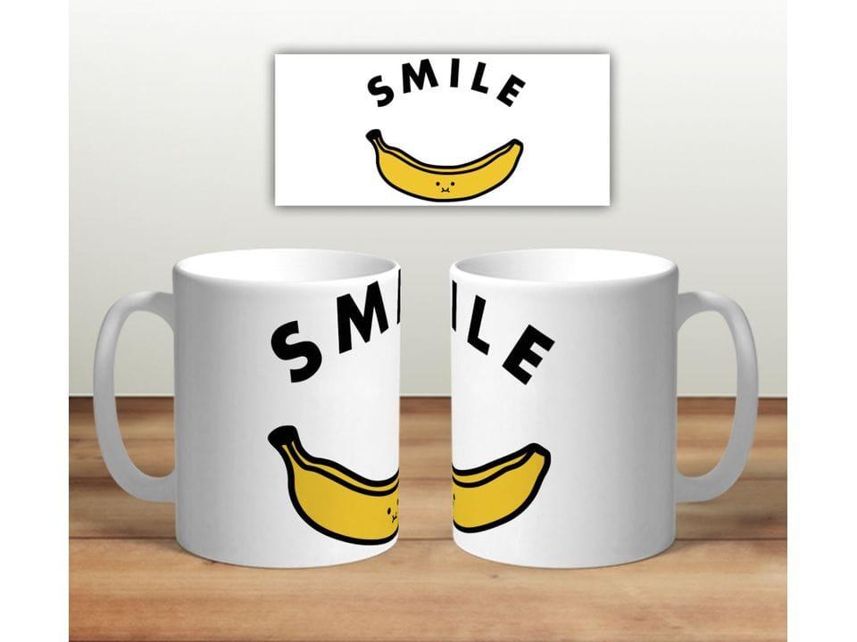 Керамическая кружка с принтом «Smile банан»