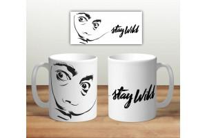 Кружка сувенирная «Сальвадор Дали. Stay wild»
