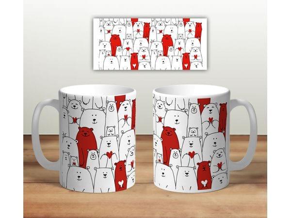 Кружка сувенирная «Белые медведи. И красные»