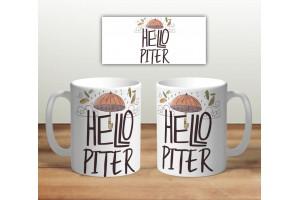 Кружка сувенирная «Hello PITER»