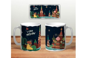 Кружка сувенирная «I love Moscow - Zaryadye»
