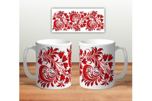 Кружка сувенирная «Цветочная роспись mug113»