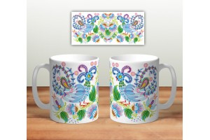 Кружка сувенирная «Цветочная роспись mug114»