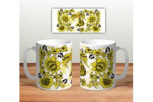 Кружка сувенирная «Цветочная роспись mug116»