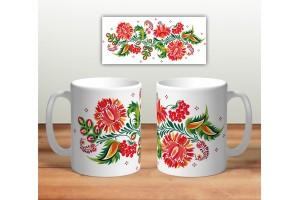 Кружка сувенирная «Цветочная роспись mug117»