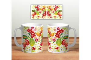 Кружка сувенирная «Цветочная роспись mug118»