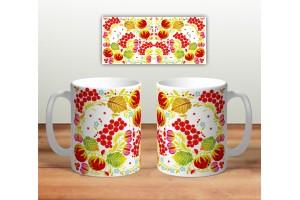 Кружка сувенирная «Цветочная роспись mug119»