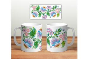 Кружка сувенирная «Цветочная роспись mug121»