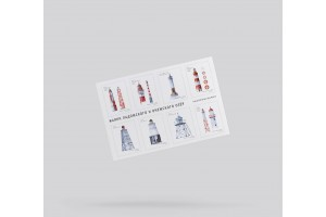 Стикерпак «маяки Ладожского и Онежского озёр»