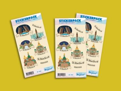 Набор стикеров «Иллюстрированный Петербург»