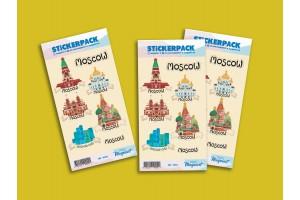 Стикерпак «Иллюстрированная Москва»