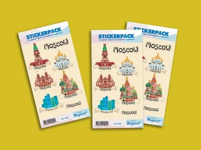 Набор стикеров «Иллюстрированная Москва»