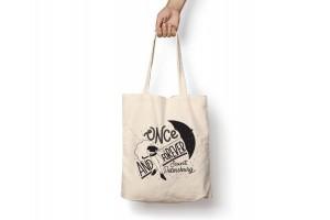 Сумка-шоппер с принтом «Once and forever»