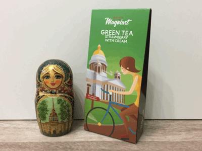 Чай зеленый Земляника со сливками сувенирный Исаакиевский собор