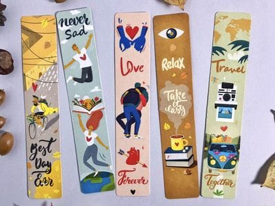 Набор закладок для книг «Новенькие закладочки» 5шт