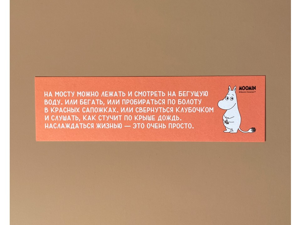 Книжная закладка «Муми-тролли. На мосту можно лежать»